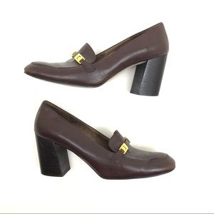 Via Venetto Pumps sz 8 Dark Chocolate Chunky Heel